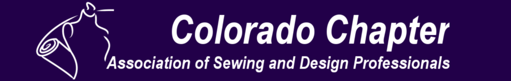 Older logo for Colorado Chapter of ASDP (Association of Sewing and Design Professionals).  This logo was replaced in 2019.